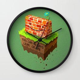 Lean On Me Wall Clock