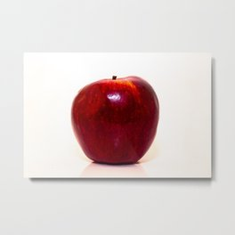 Red apple on white background Metal Print