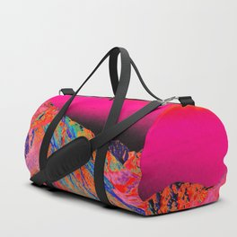 California's Sierra Mts-Digital Art, Pink & Orange Duffle Bag