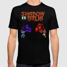 Shadow of the Ninja- Blue Shadow Black MEDIUM Mens Fitted Tee