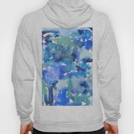 blue in different shadows Hoody