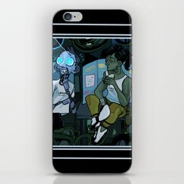 wheatley n chell iPhone Skin