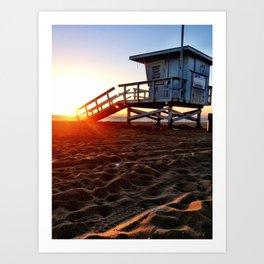 "Redondo Beach ""Life Guard Tower 3"" Art Print"