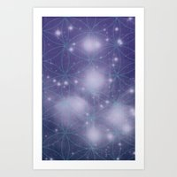 Space Vision / Blooming Universe Art Print