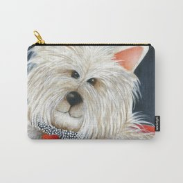Dog Westie Terrier Original painting Deb Harvey Art Rose Carry-All Pouch