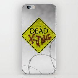 Zombie Crossing iPhone Skin