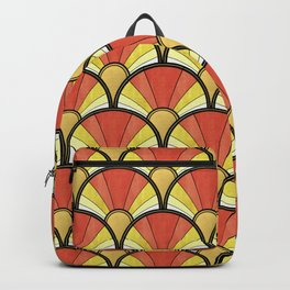 Radiant Sunshine Art Deco Pattern Backpack