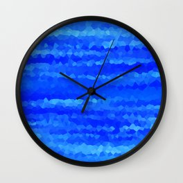 Crystallized Waves. Wall Clock