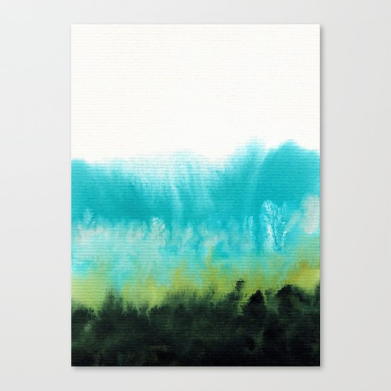 Watercolor abstract landscape 15 Canvas Print