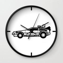 DeLorean Time Machine Wall Clock