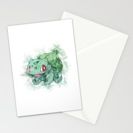 Watercolour bulbasur Stationery Cards