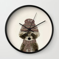 little indy raccoon Wall Clock