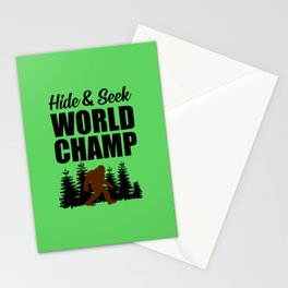 Hide and seek world champ funny quote Stationery Cards
