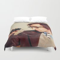 woody allen Duvet Covers featuring WOODY ALLEN by VAGABOND