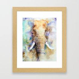 Dream Big Elephant Framed Art Print