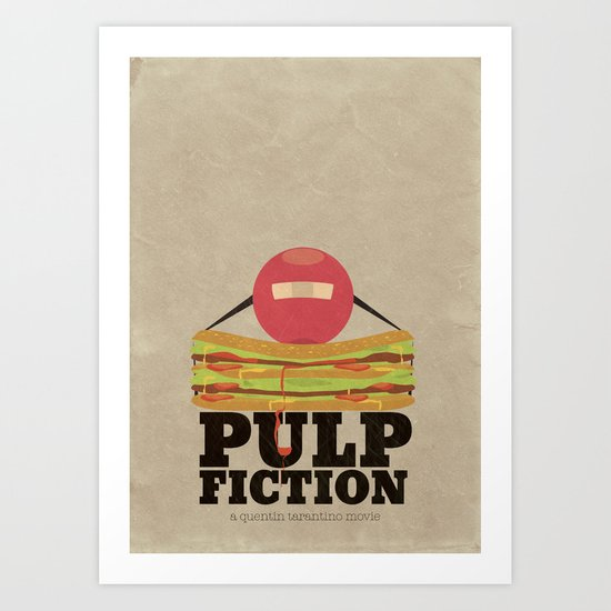 Pulp Fiction - Minimal Poster Art Print