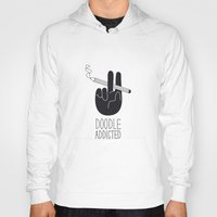 doodle Hoodies featuring doodle addicted by SpazioC