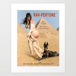 """Rah-pertone"" - The Playful Pinup - Halloween Mummy Parody Pinup by Maxwell H. Johnson Art Print"