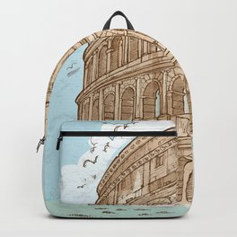 colosseum color hand draw background Backpack