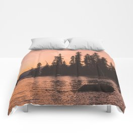 Forest Island at the Lake - Nature Photography Comforters