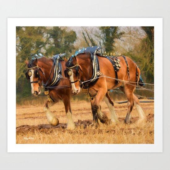 Work Horses Art Print