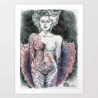 Stripper Figure Study Art Print