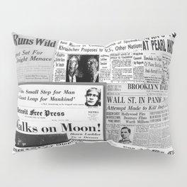 Vintage News Headlines Pillow Sham