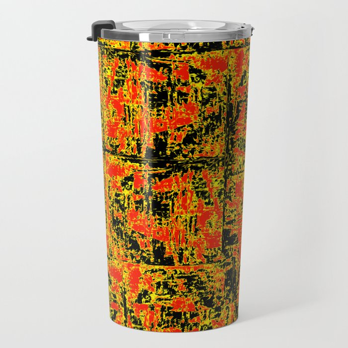 Golden Red Travel Mug
