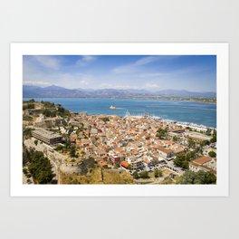 Nafplio from above Art Print