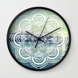 Mandala : Teal Sea Sunset Wall Clock