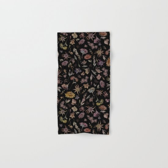 Botanical Study- Dark Colorway Hand & Bath Towel
