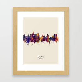 Galway Ireland Skyline Framed Art Print
