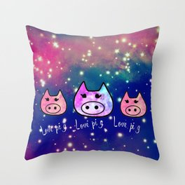 Pig-293 Throw Pillow