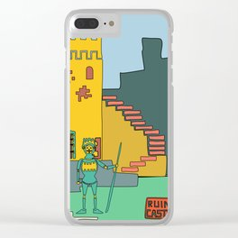 Afternoon at the Medieval Age (a) Clear iPhone Case