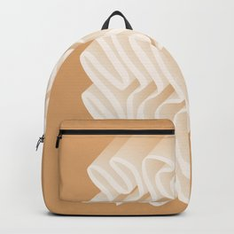 One Line-Art 3D Ribbon 1. Tan Backpack