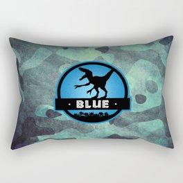 Velociraptor Squad: Blue Team Rectangular Pillow