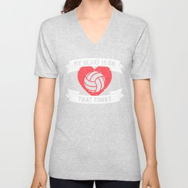 Volleyball Mom Gift Player Coach Family Unisex V-Neck