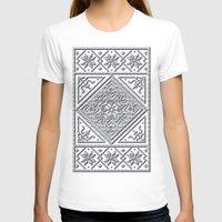 scandinavian T-shirts featuring Scandinavian Patterns I by Fischer Fine Arts