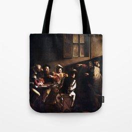Caravaggio The Calling of Saint Matthew Tote Bag