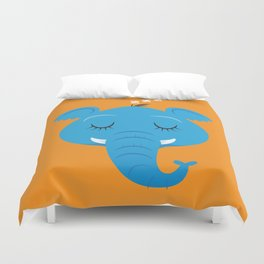 Sleepy Elephant Duvet Cover