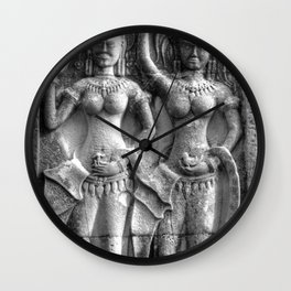 Cambodian Erotic Goddesses Wall Clock