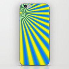 blue and yellow fractal iPhone & iPod Skin