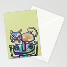 Juggler with Cat Stationery Cards