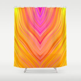 stripes wave pattern 3 stdi Shower Curtain