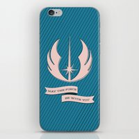 jedi iPhone & iPod Skins featuring Jedi Blueprints by Travis English