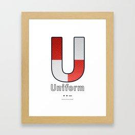 Uniform - Navy Code Framed Art Print