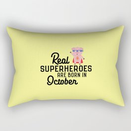 Superheroes-are-born-in-October T-Shirt D3s29 Rectangular Pillow