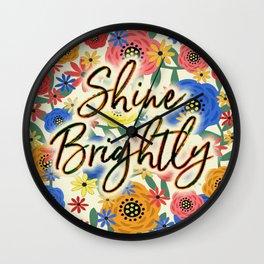 Shine Brightly Wall Clock