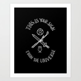 Follow Your Intuition Art Print