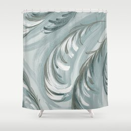 swirling feathers Shower Curtain